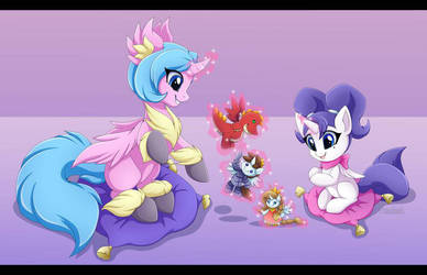 Sister Play time by MontiRedDragon