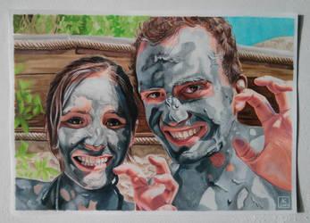 Mud Portrait - Copic Markers and Color Pencils by akdizzle