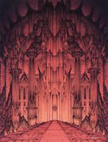 The Gates of Barad Dur by CurtissShaffer