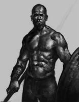 Warrior dude by DanarArt