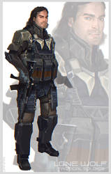 Lone wolf unit by DanarArt