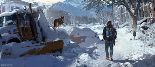 LOST IN SNOW by DanarArt