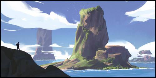 Nostickman on adventure by DanarArt