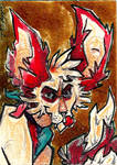 :ACEO: Banamikaze by CultistCarl