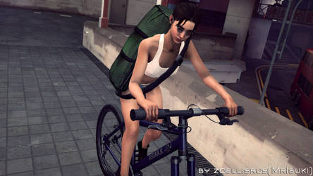 Going Cycling on Japanese Streets   Zoey   L4D by zoellisrus