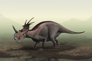 Styracosaurus in the mist... by Steveoc86
