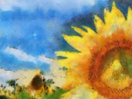 Cezanne Sun Flower by diverse-norm