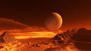 Exomoon of binary red dwarfs #2 by nirklars