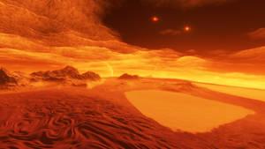 Exomoon of binary red dwarfs #3 by nirklars