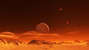 Exomoon of binary red dwarfs #6 by nirklars