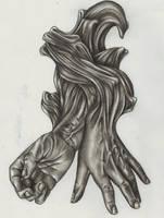 Hands Interwoven by VixSky