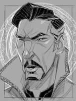 Doctor Strange doctor sketch by ZedEdge