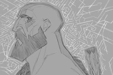 Warrior without War (sketch) by ZedEdge