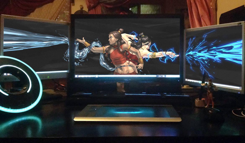 Identical Opposites - Triple Monitors by ZedEdge