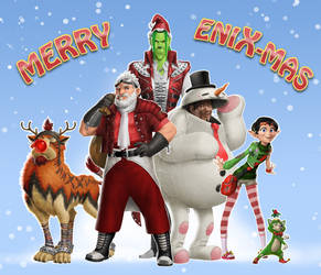 Happy Holidays from Final Fandisney! by ZedEdge