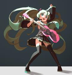 Rockin' Miku by TopDylan