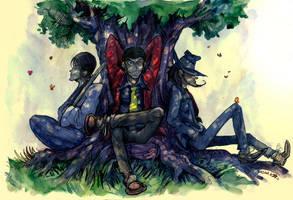 Under a tree. by Dasha-KO