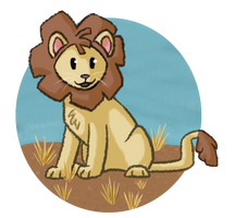 Scribbly Lion by RunningSpud