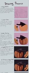 Pumpkin Cat Tutorial / Process by RunningSpud