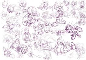 Werehog doodles by Paumol