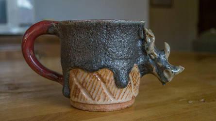 Rhino Mug Ceramics Commissions Open by SunStateGalleries