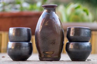 Tenmoku Sake Set by SunStateGalleries