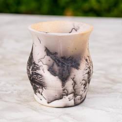 Raku Horse Hair Vase by SunStateGalleries
