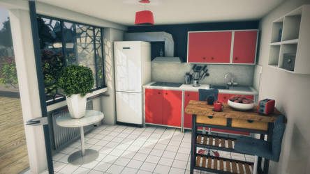 3D interior - Little Kitchen by Reno-Cacomm