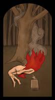 Burning Body in the Forest by FerdinandBardamu