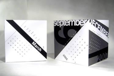 Calendar Cubes by cityechoes