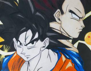 Goku and Vegeta by ExogenesisOverture