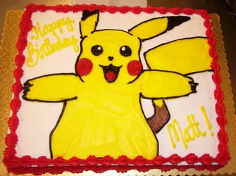 Pikachu Cake by zoro-swordsman