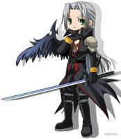 Chibi Sephiroth by neneno