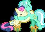 S08 E10: Break Up Break Down - Lyra and Bonbon by TheArtsyEmporium
