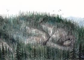 Mountain troll awakens by Zaronen