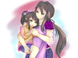 Mother and daughter (Yandere Simulator) by AyanoGasai