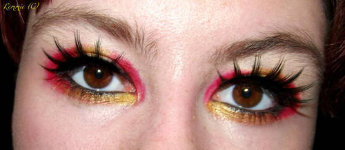 Iron Man Inspired makeup by LoppanRemmie