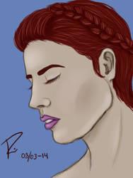 Red halo braid. by LoppanRemmie