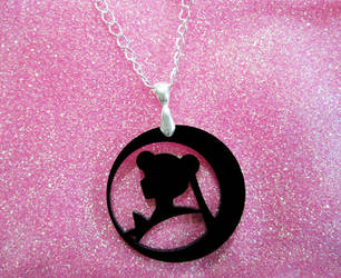 SailorMoon Silhouette Necklace by aeiny