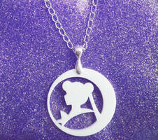 Sailor Moon White Necklace by aeiny