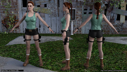 Tomb Raider - Fundamental Pose - S8 @low by Godzilla-Hentai