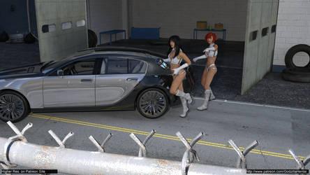 Dirty Pair - To the Car!@medium by Godzilla-Hentai