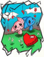 A Little Romance-- colored by XxUshixX