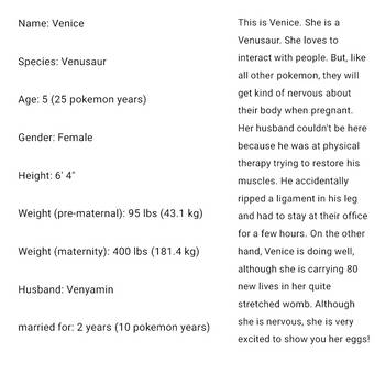 Venice's information (desc) by Pokecraft2
