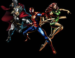 Spider-Man and his Amazing Friends... Sort of by fireemblemspider