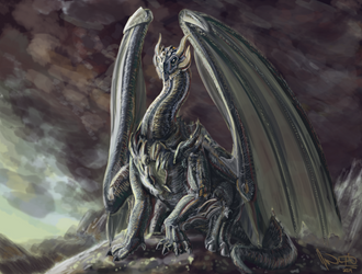 Study: light, paint, dragons? by suburbbum
