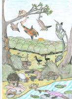 Australian Fauna of the Cryocene 1 by JDB1992