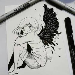 frisk the fallen angel by CamiIIe