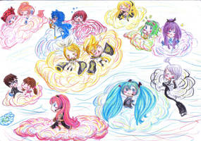Chibi Vocaloid by GhinaBlue