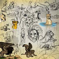 random Lion Sketch dump 2 by DJ88